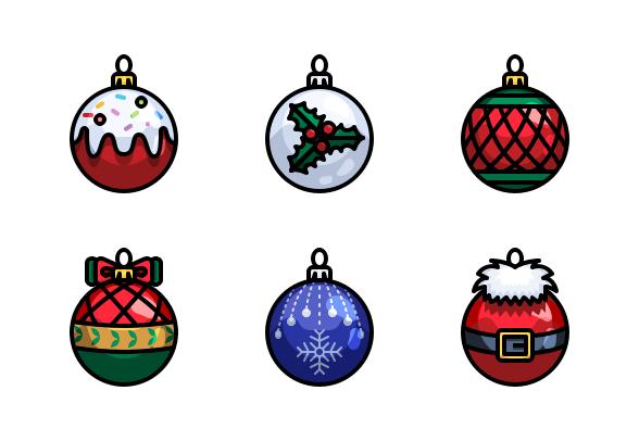 Christmas Ball Icons By Just Icon Christmas Drawing Christmas Props Holiday Cards Handmade