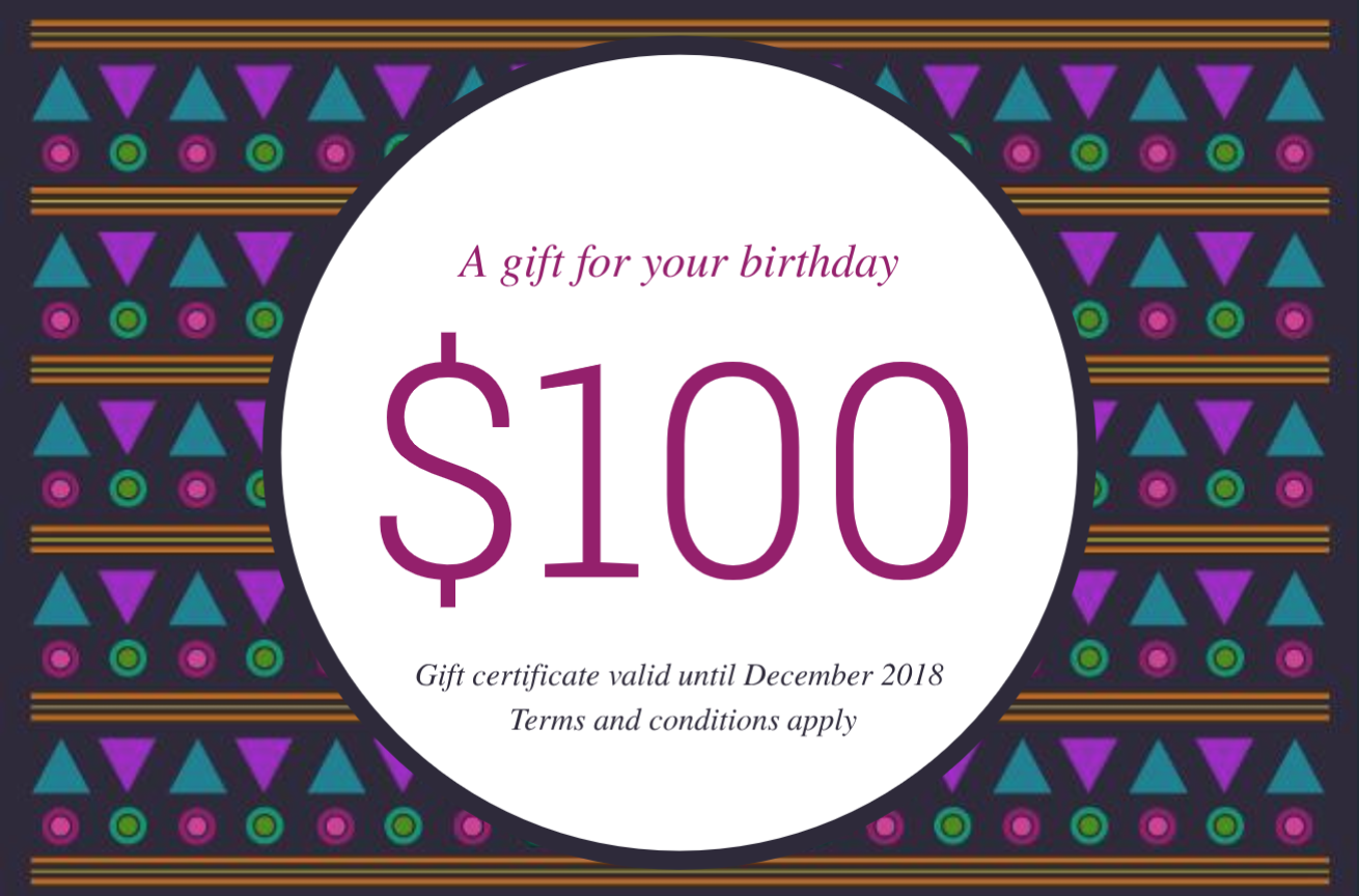 Patterned Birthday Gift Certificate Template Gift