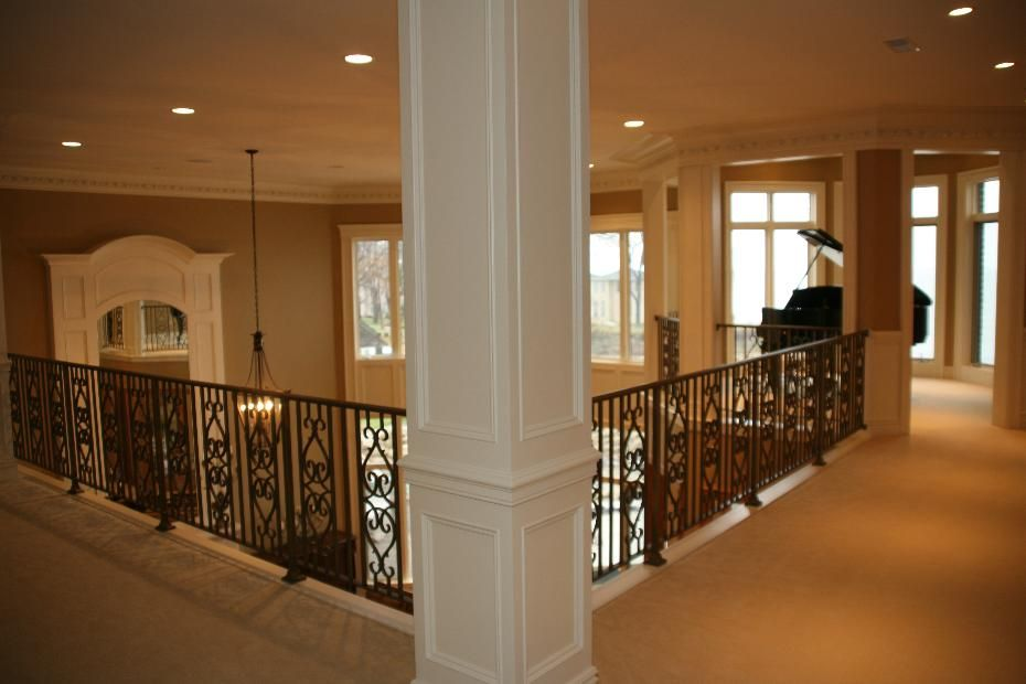 Best Elegant Upstairs Hallway Railing And Column Dream House 640 x 480