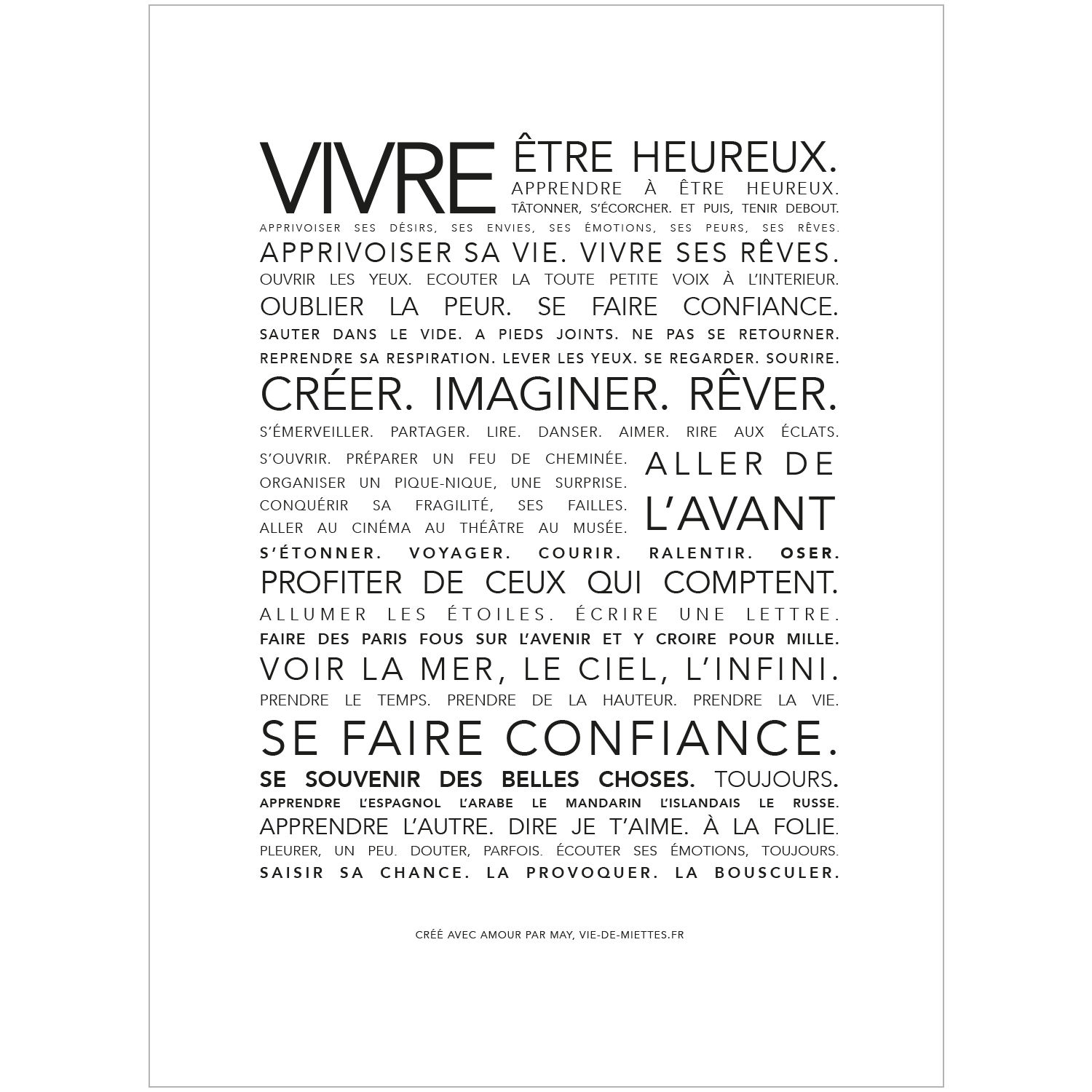 Decoration Murale Citation L 39affiche Vivre à S 39 Offrir Citations Quotes