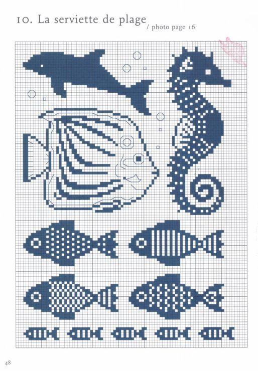 Kaloja, merihevonen ja yksi delfiini