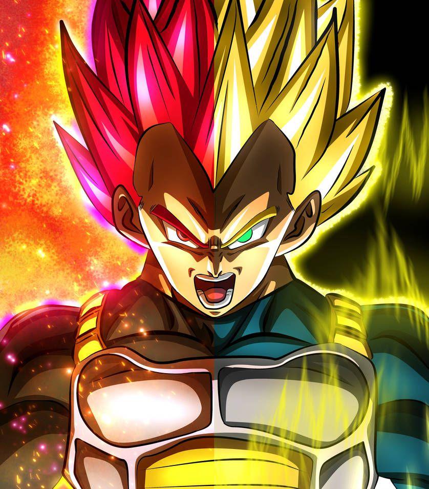 Vegeta God Super Saiyan Mopungshel With Images Anime Dragon