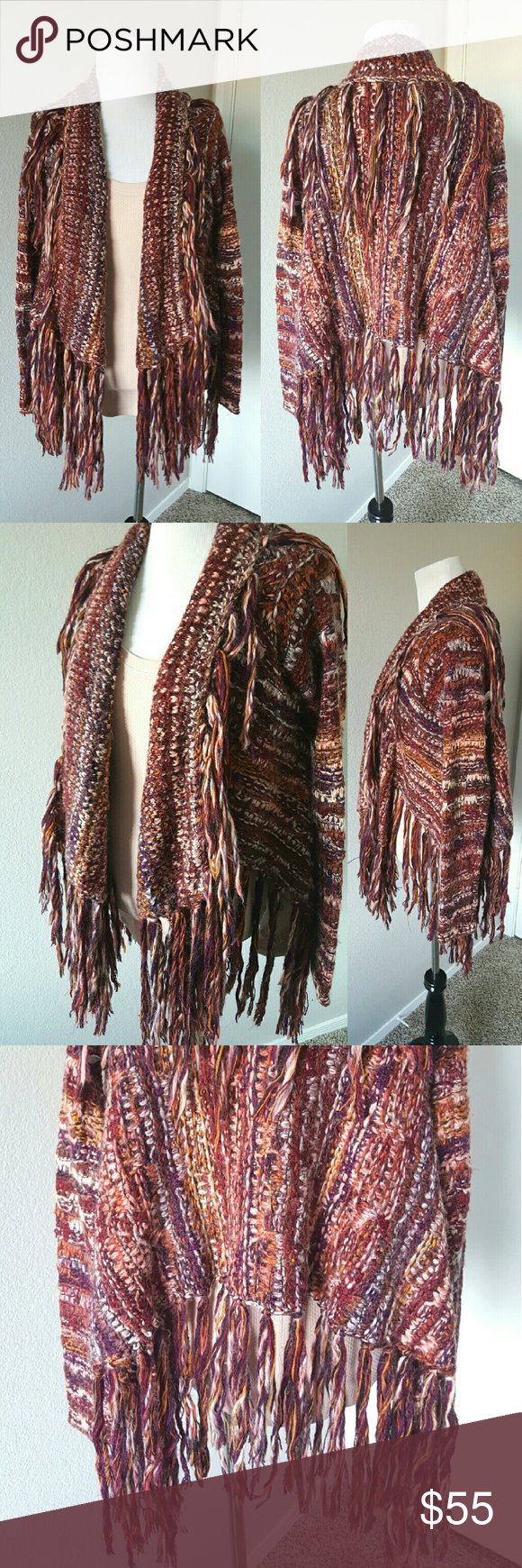 {Free People} Fringe Sweater Adorably cozy fringe sweater! No holes or stains.  *No trades *Bundle to save 10% Free People Sweaters Cardigans
