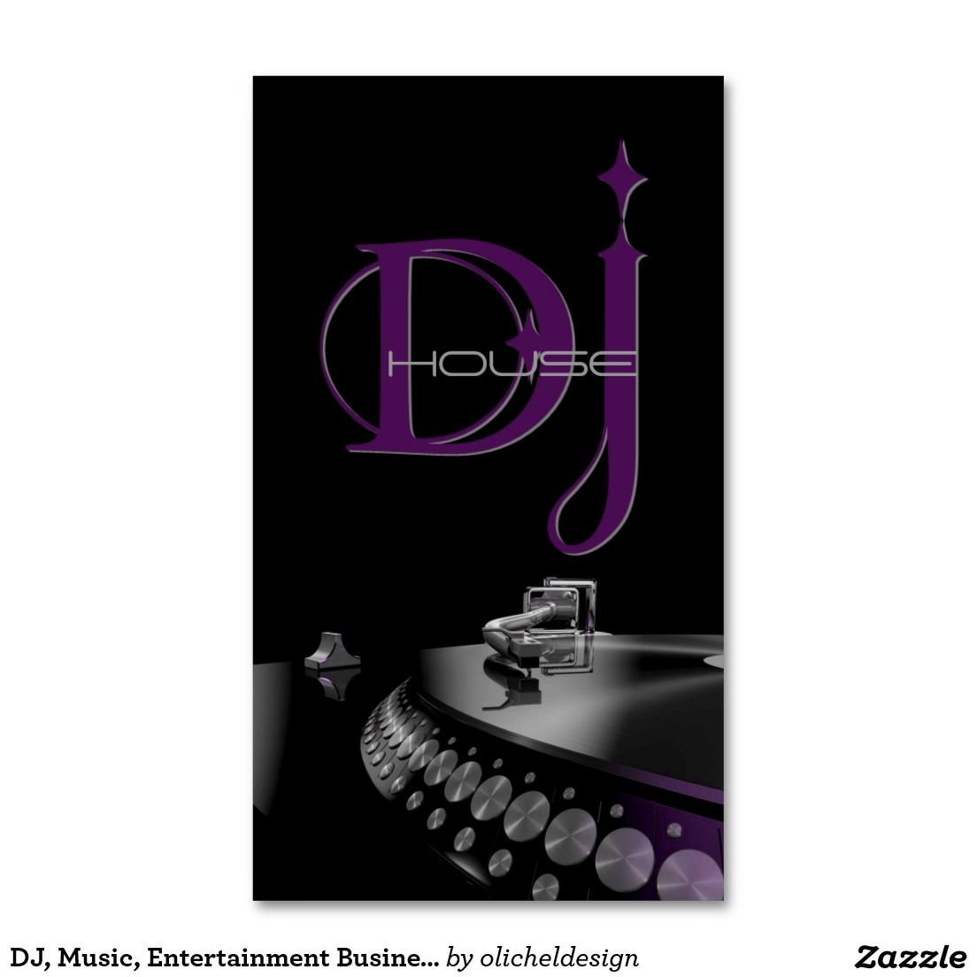 DJ, Music, Entertainment Business Card   DJ/Music Business Cards ...