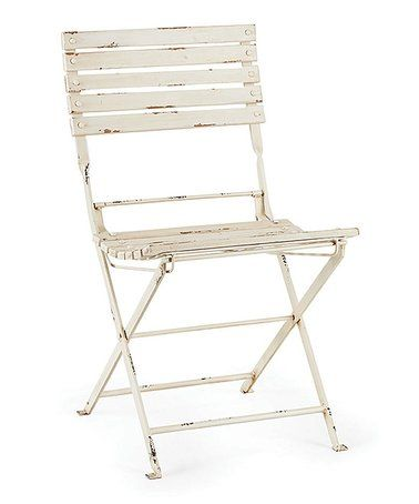 Terrific This Antique White Bistro Folding Chair Is Perfect Ncnpc Chair Design For Home Ncnpcorg