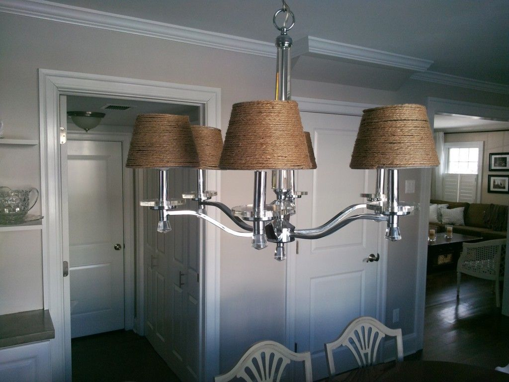 jute chandelier shade | for my love to create | DINING ROOM ...