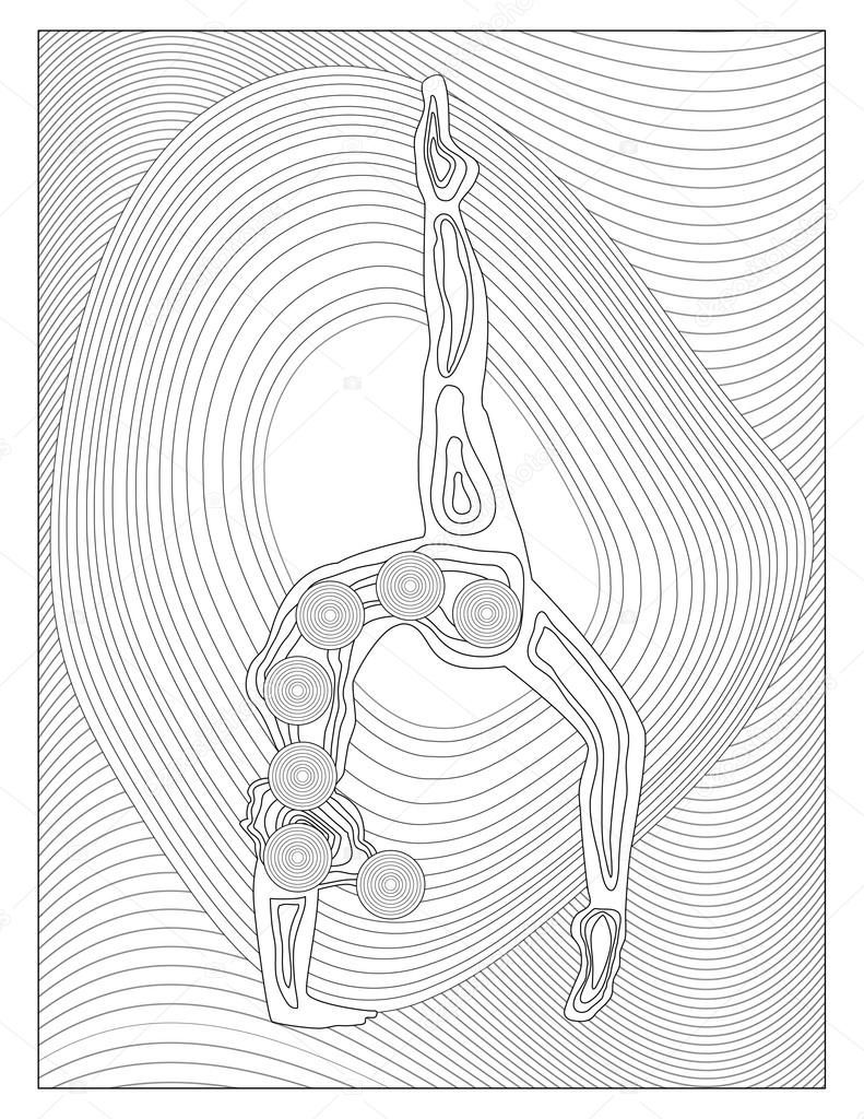 Yoga çakra Boyama Sayfası Stok Imaj Yoga Mandala Coloring