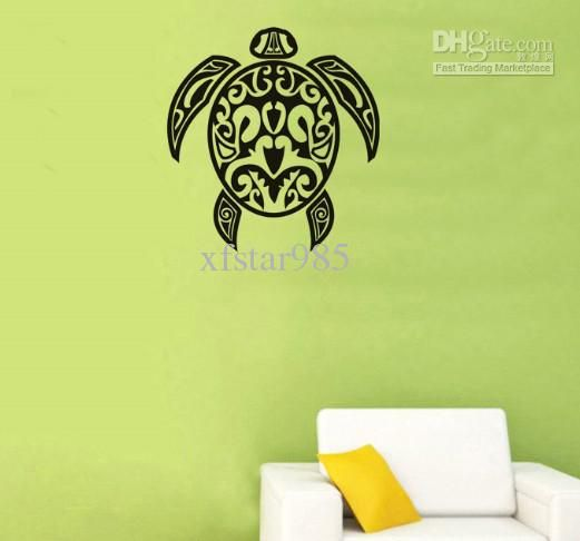 wholesale wall stickers - buy sweet life!!turtle-tattoo wall decals