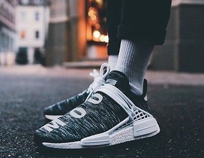 adidas x pharrell human race nmd trail oreo sz uk 5 6 7 8 9 10 11