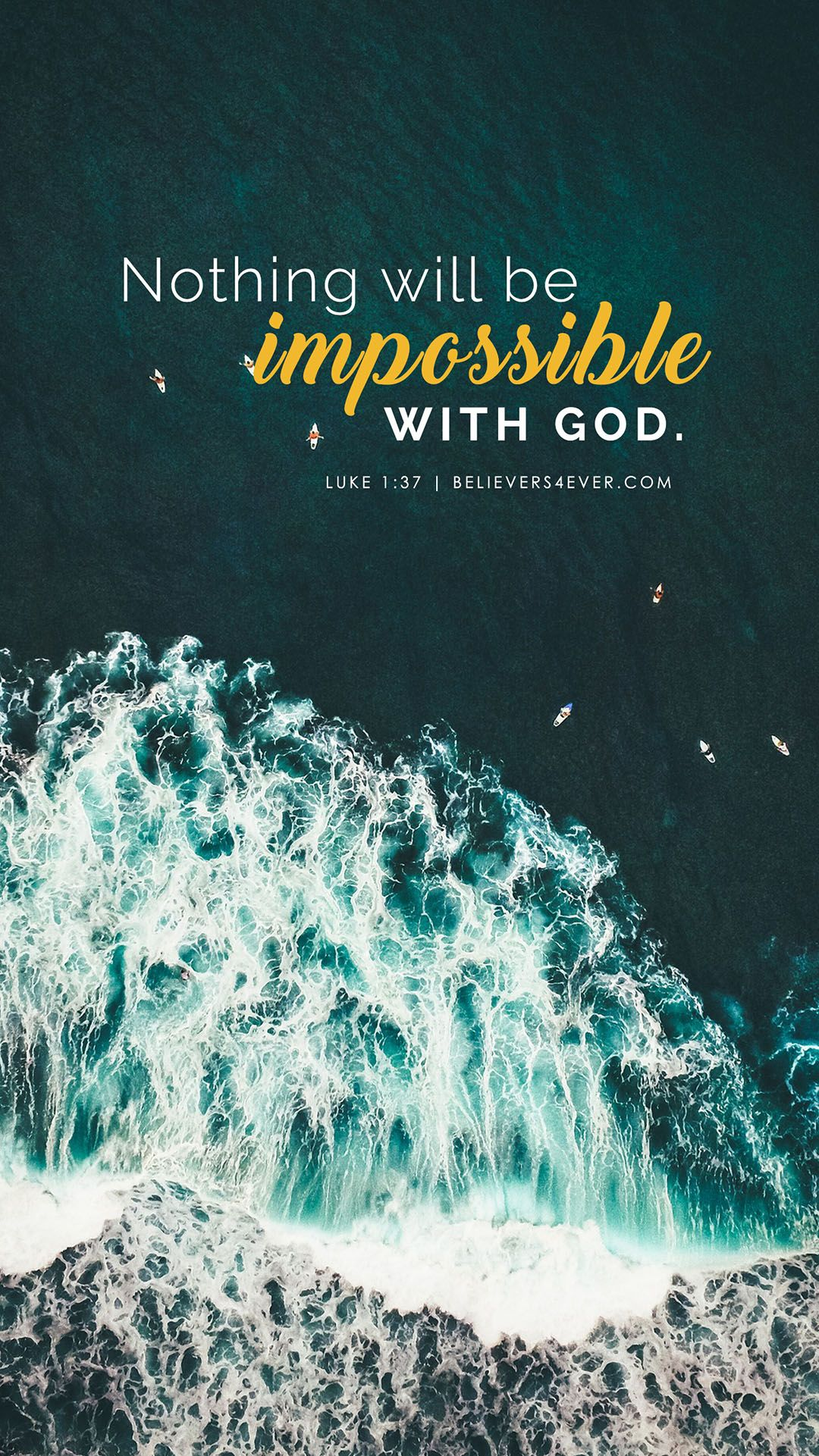 Nothing will be impossible with God Bible verse