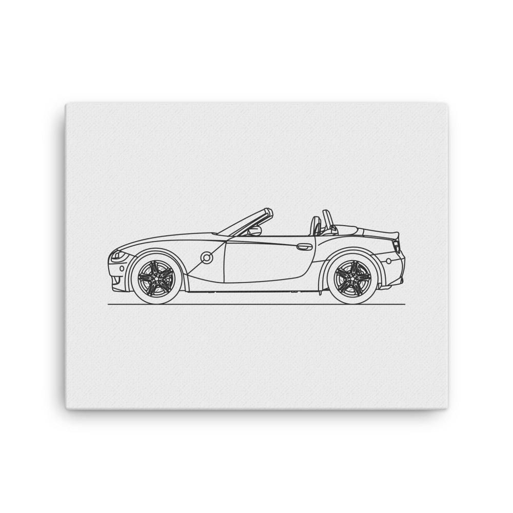 Zm roadster minimal line art canvas canvases and products