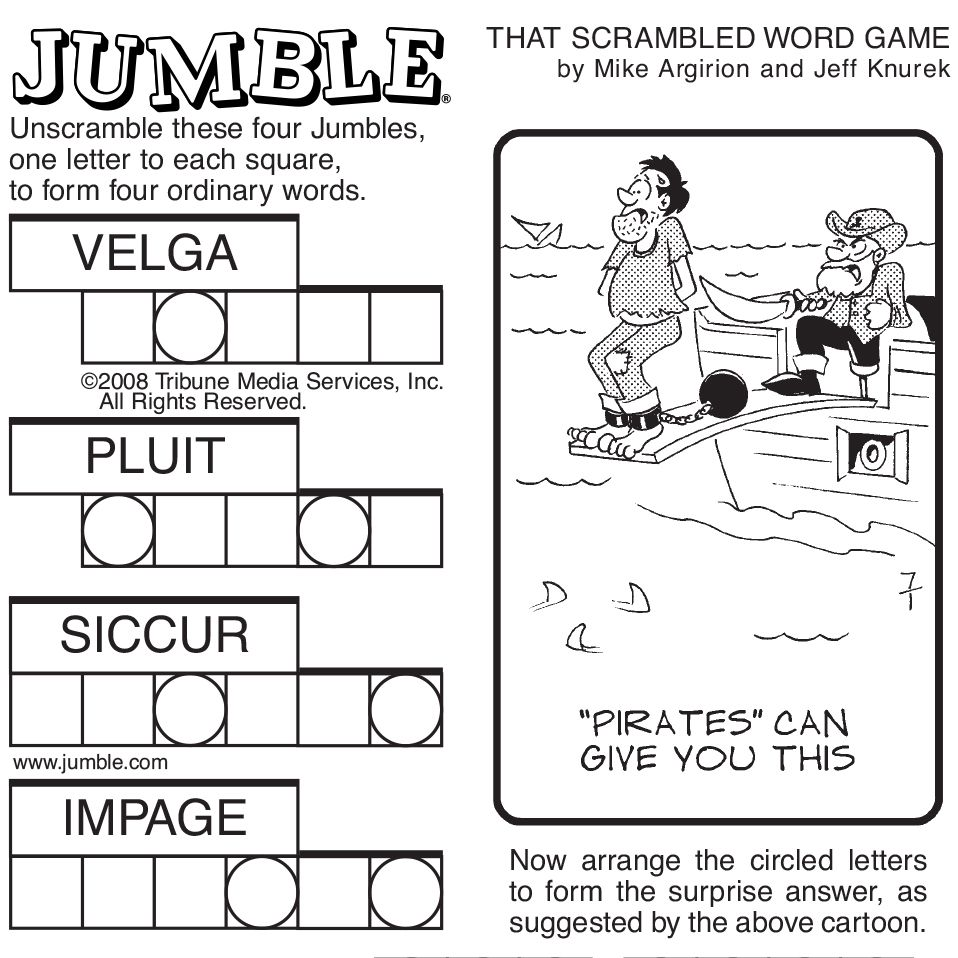 Simplicity image in printable jumble crossword puzzles