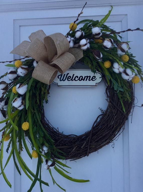 Photo of Grapevine wreath for front door, summer grapevine wreath, spring grapevine wreath, outdoor grapevine wreath, indoor grapevine wreath
