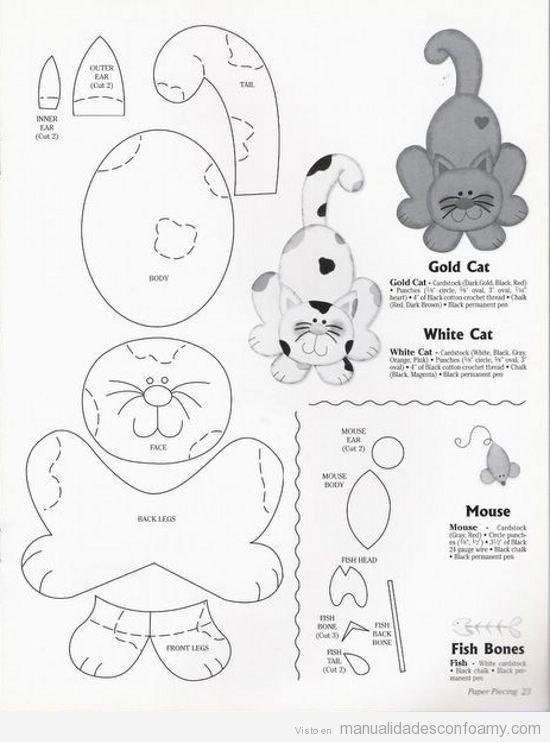 Moldes para figuras en foamy - Imagui