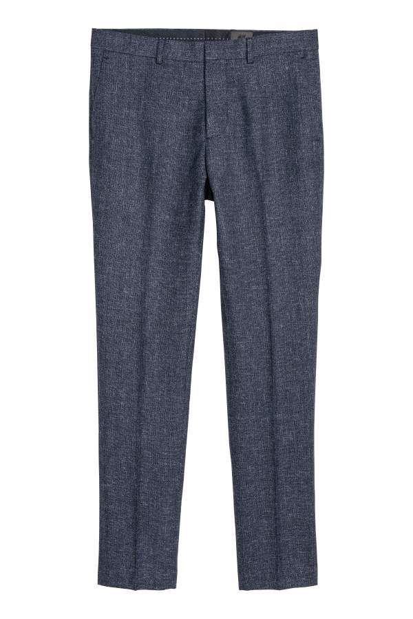 8d92465a87 H&M H & M - Suit Pants Slim fit - Dark blue melange - Men | Products ...