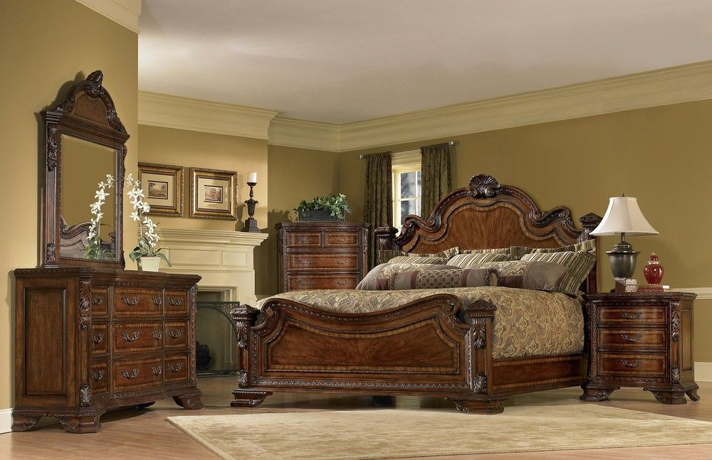 Admirable Old World Estate Bedroom Set In 2018 Bedroom Decor Beutiful Home Inspiration Ommitmahrainfo