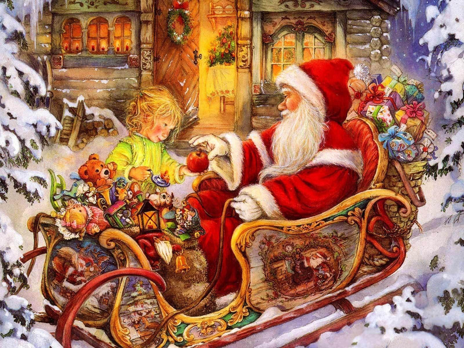 Obrazok - Santa a dievčatko