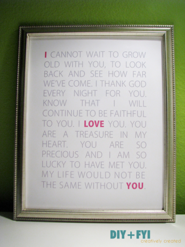 Diy Love Letters Subway Art  Gift Craft And Boyfriends