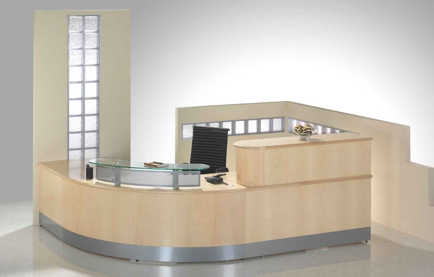 reception office desk curved modern furniture desks chairs area