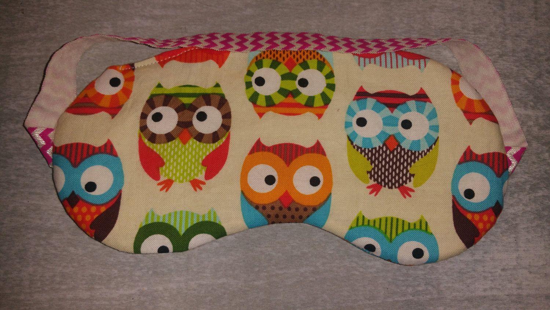 Sleeping eye mask, Eye mask, Owl lovers gift,  Owl eye mask, Owl, Owls, Cotton eye mask, Soft eye mask, Eye wear, Eye Pillow by SewPinkDragon on Etsy