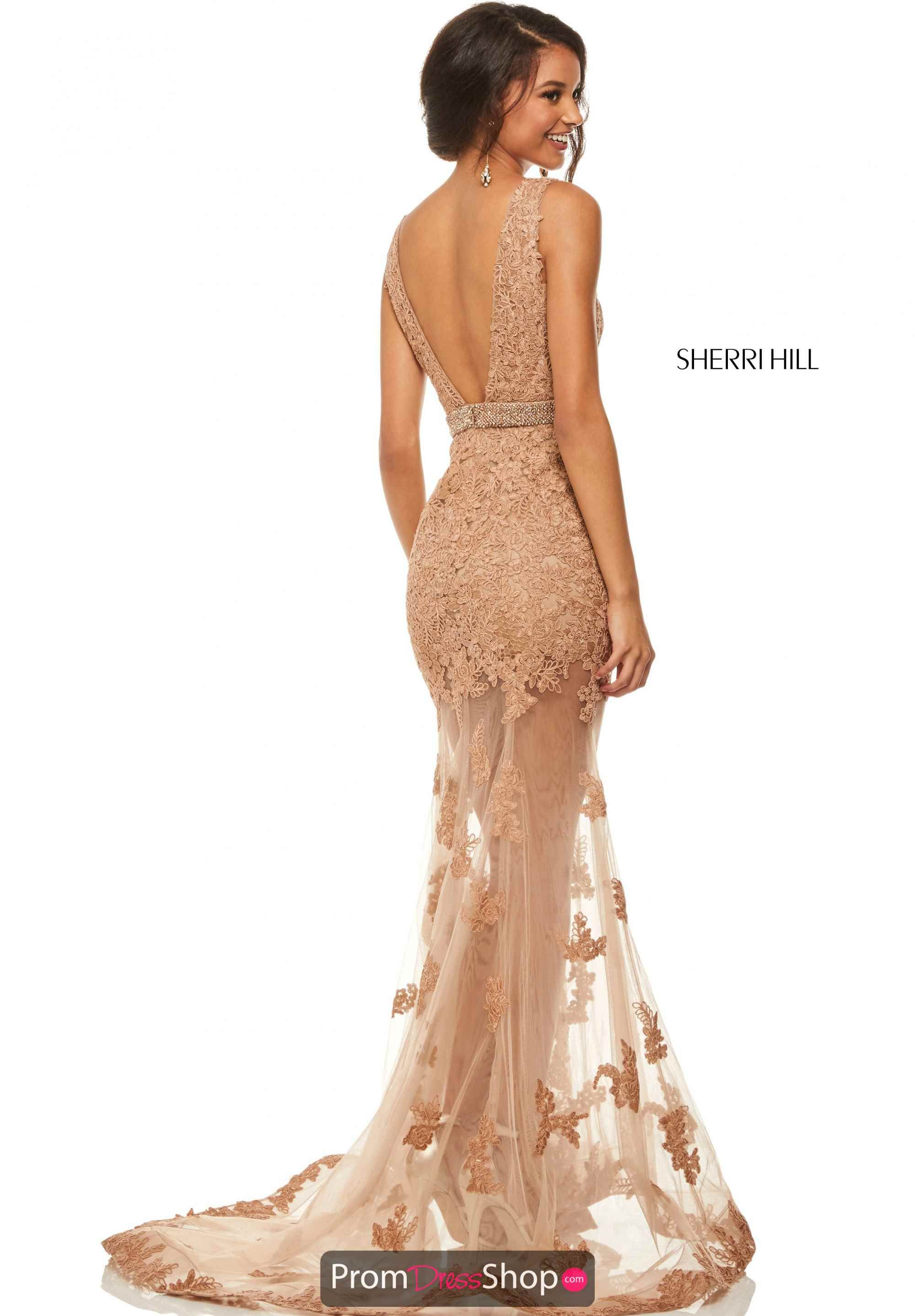 d3fa281173d Sherri Hill V- Neckline Lace Dress 52875 in 2019