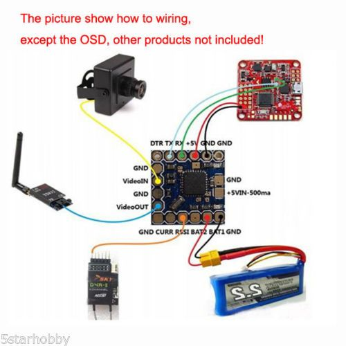 Micro Mini Osd With Kv Team Mod For Naze32 Flight Controller Diy Drone Electronic Circuit Projects Micro Drone