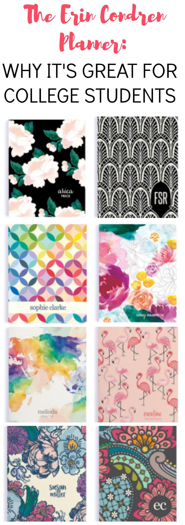 planners for college students erin condren edition erin condren