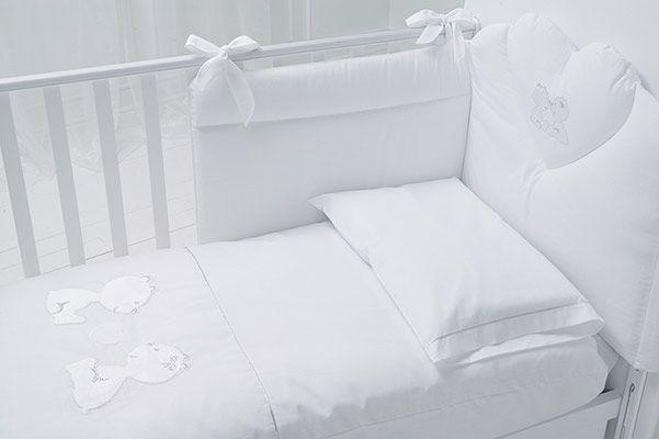 piumotto CUORE DI MAMMA bianco/platino#baby #crib #cot