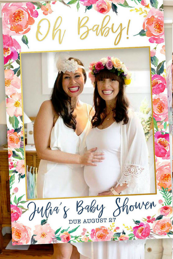 Baby Shower Photo Prop Photo Booth Frame Picture Frame Photo Booth Imagenes De Baby Shower Telon De Fondo De Baby Shower Fiestas De Bebes Recien Nacidas