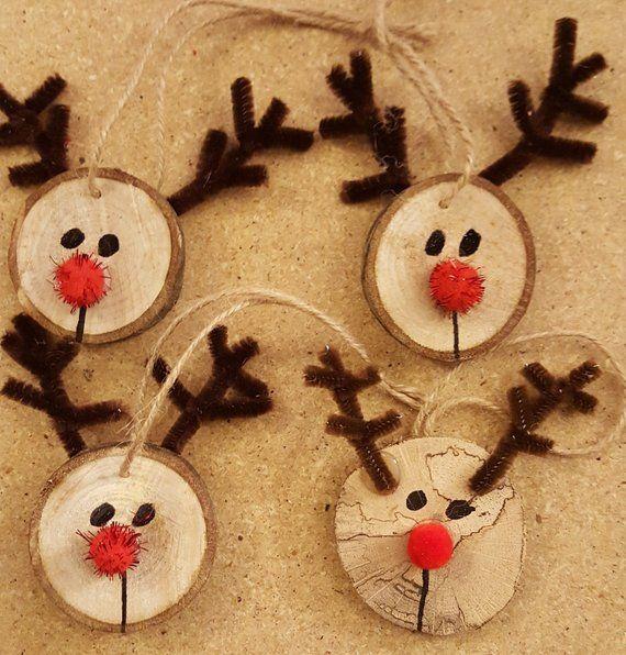 Wooden Reindeer Ornaments #christmasornaments