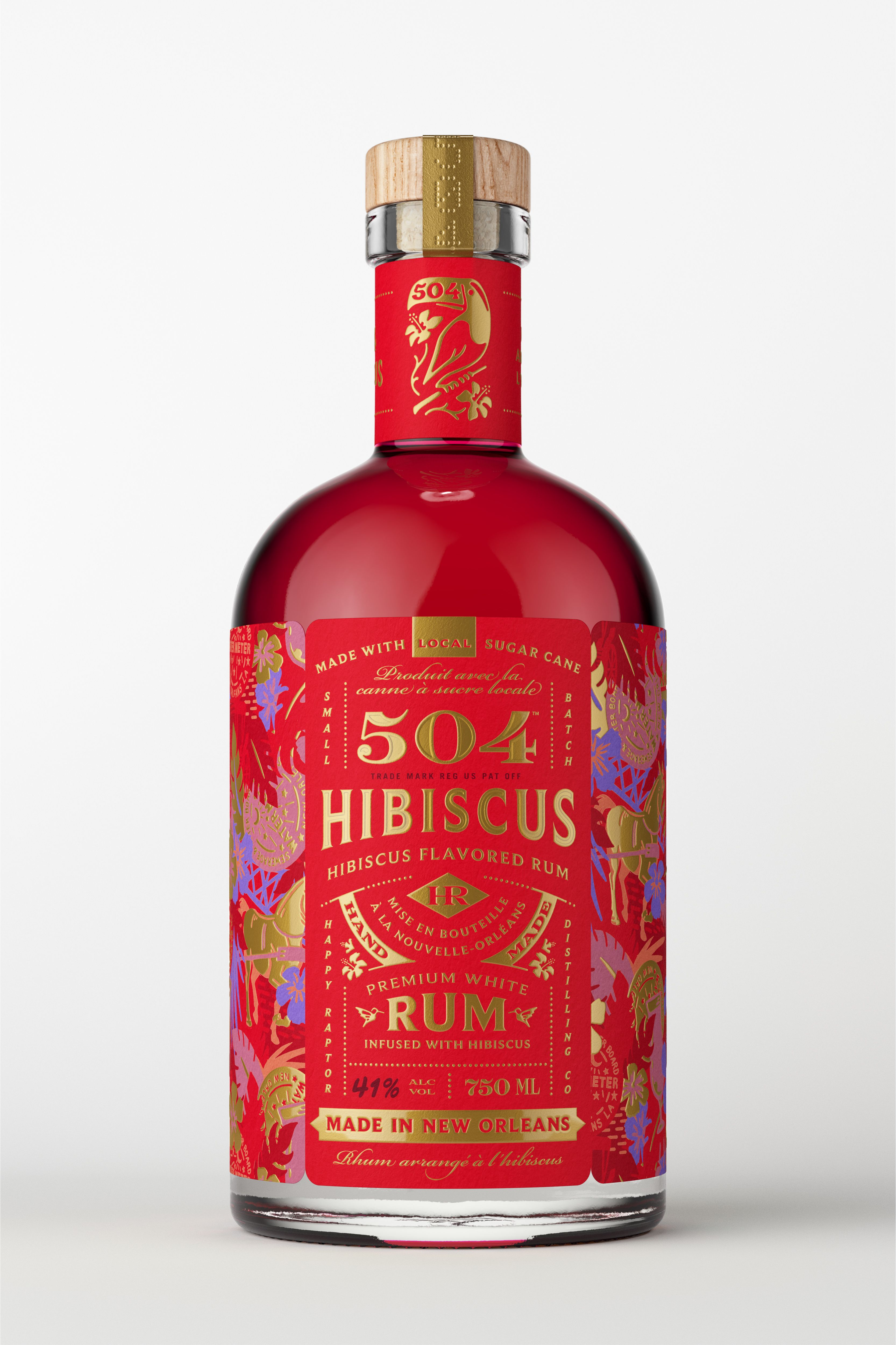 504 Hibiscus Rum Spirits Bottle Design Bottle Packaging Chocolate Packaging Design