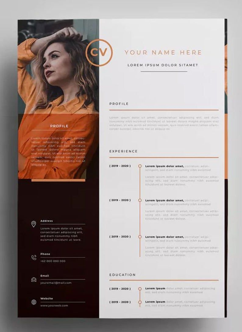 Professional Resume Cv Template Resume Template Word Etsy Minimalist Resume Template Resume Design Template Resume Design