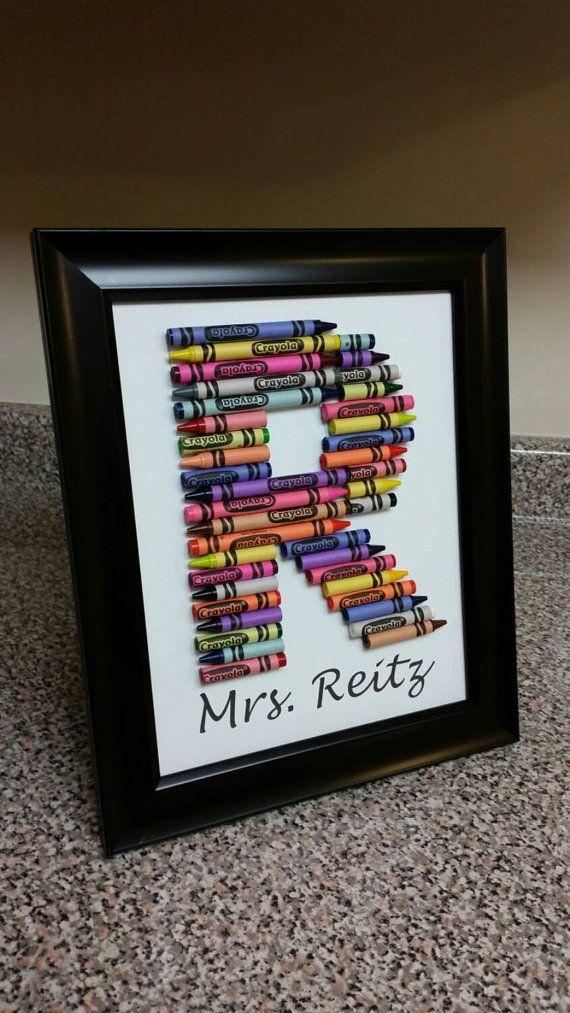 Customized Crayon Monogram Frame