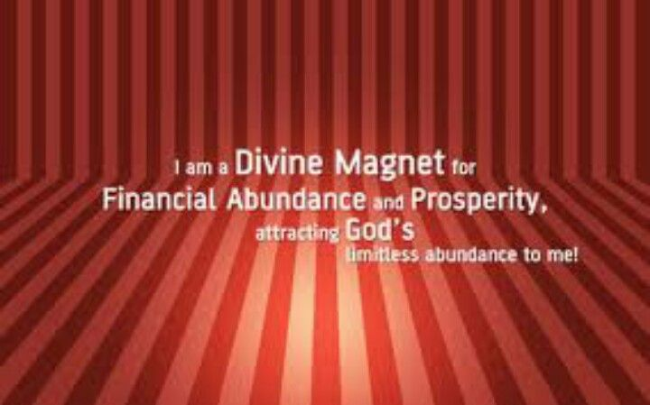 I am a money and a success magnet. Money is coming to me with little or no effort.