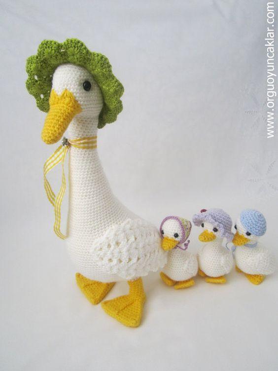 Familia de patos Patrón en inglés en Etsy 9€