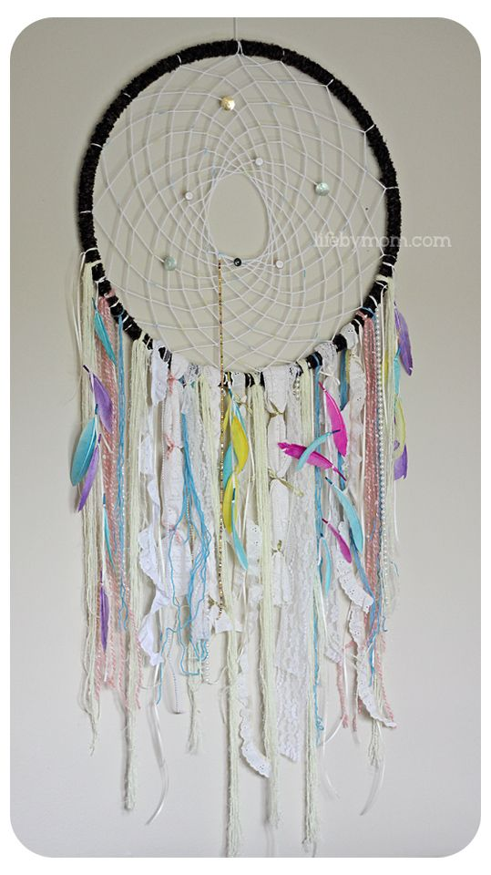 Create A Unique DIY Hula Hoop Dreamcatcher This Decorative New Where To Buy Dream Catcher Hoops