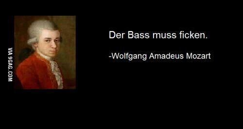 The bass must f*ck!