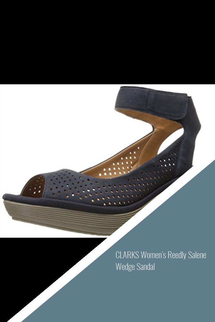 a3e7d5390781 CLARKS Women s Reedly Salene Wedge Sandal  shoes