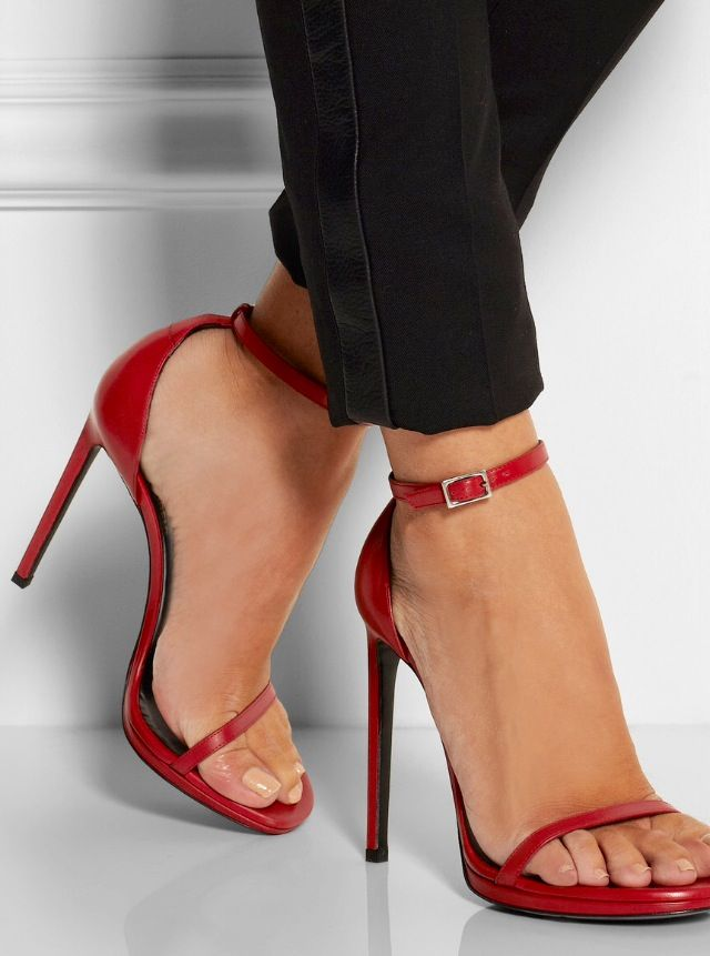 Saint Heel In Laurent'jane' Red SandalsHeels Yves High P8OZNnk0wX