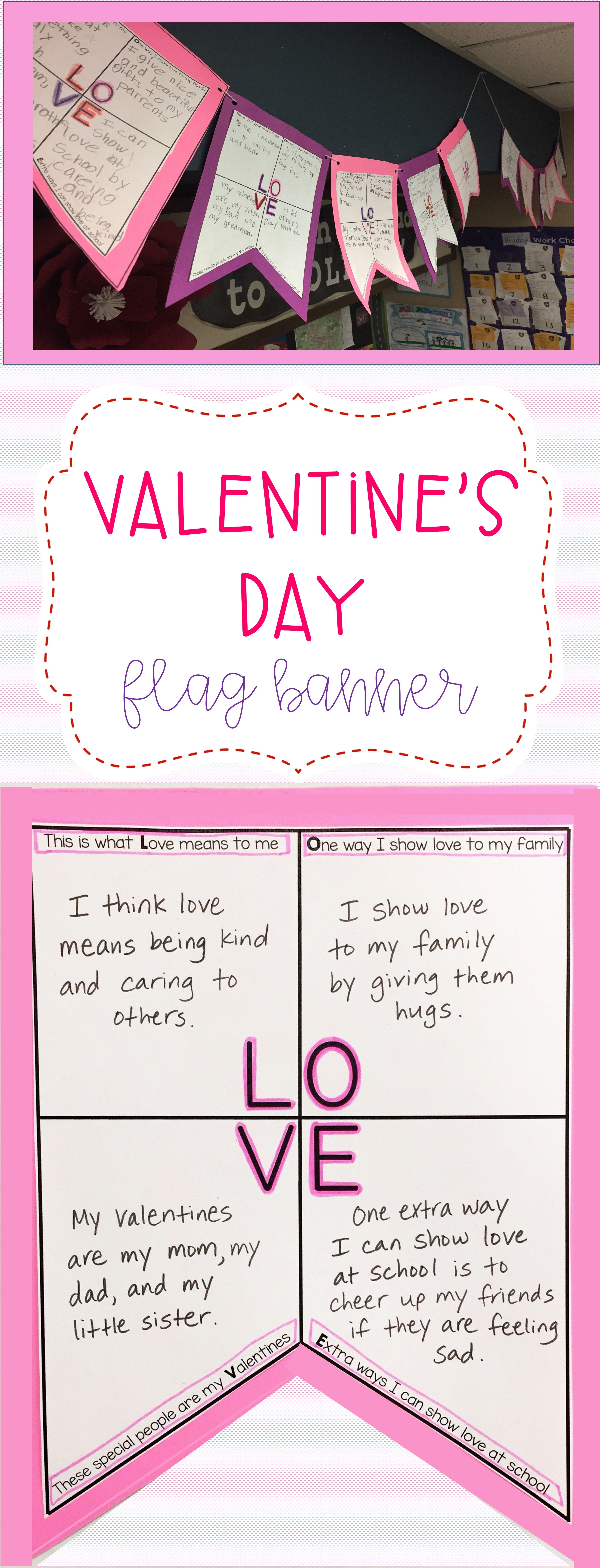 Valentine S Day Flag Banner Activity