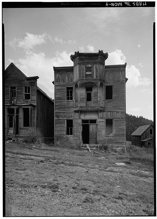 The Fraternity Hall in Elkhorn, Montana-Ghost Town--WIKI