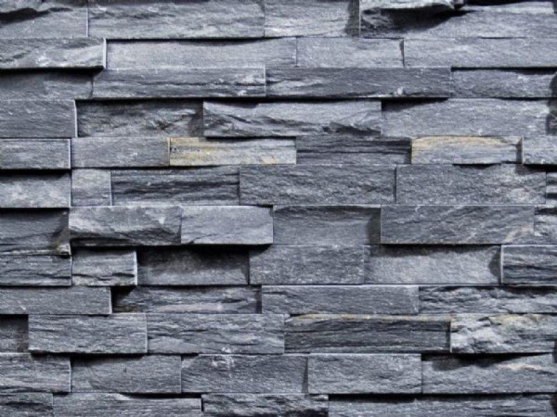 Mur ardoise noire stone wall ardoise noire stone wall - Mur ardoise cuisine ...