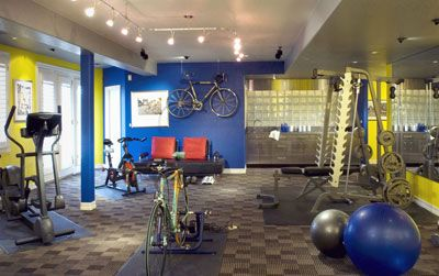this would be a wonderful home workout room  workout