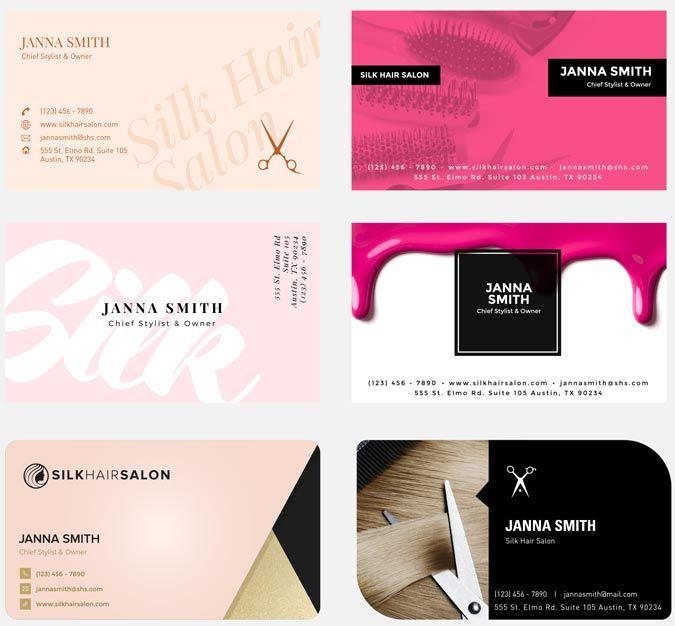 Free Hair Salon Business Card Templates Salon Salons Salon