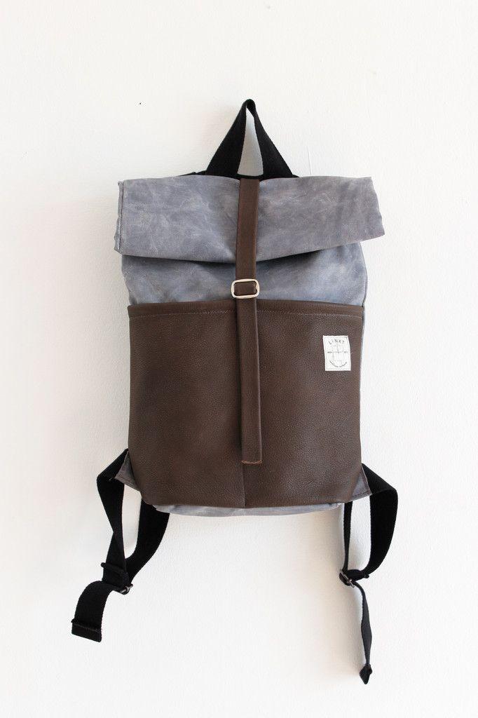 Linkt Handmade Minimal Design Backpack Handgemaakte Leren