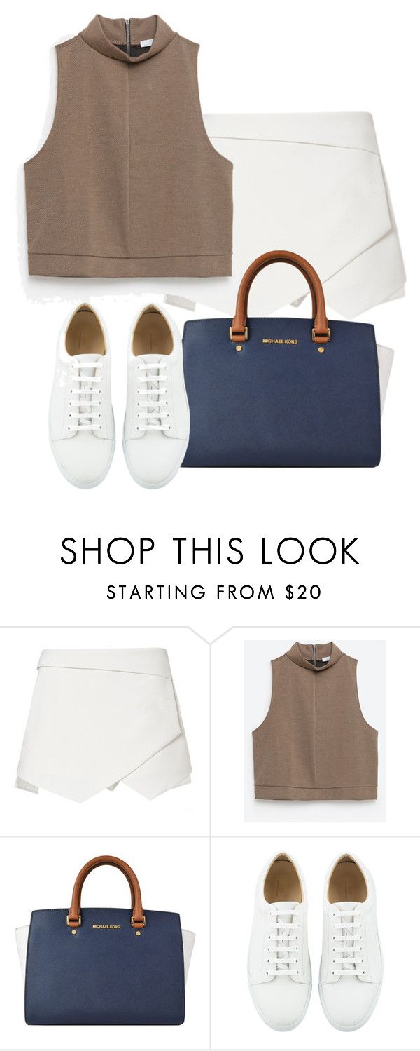 """""""Tenis Court"""" by aniloracfilipe ❤ liked on Polyvore featuring Zara, MICHAEL Michael Kors, women's clothing, women, female, woman, misses and juniors"""