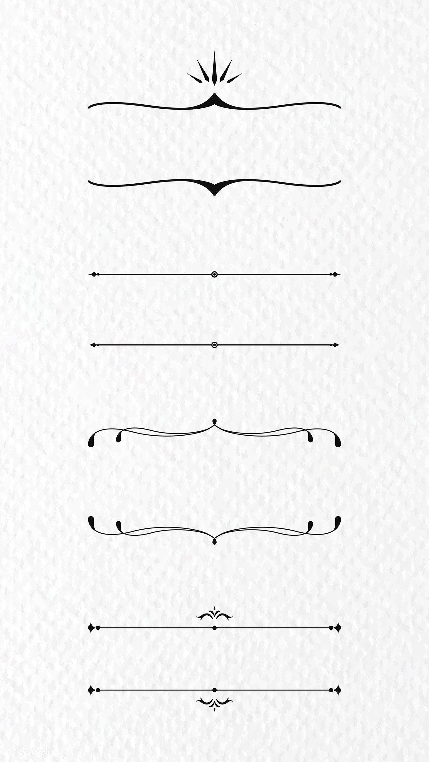 Download Premium Vector Of Vintage Line Frame Collection Vector 2021258 Bullet Journal Dividers Frame Collection Photo Logo Design