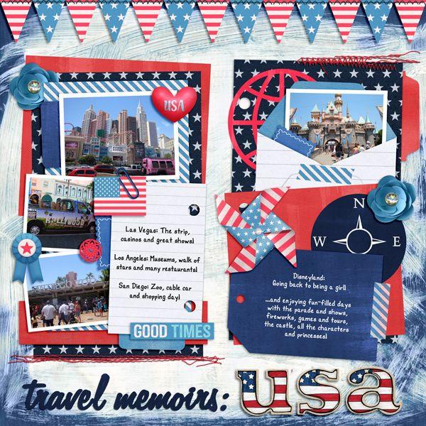 Credits Alpha -Stars u0027N Stripes- (Kate Hadfield) Kit -USA - travel log template
