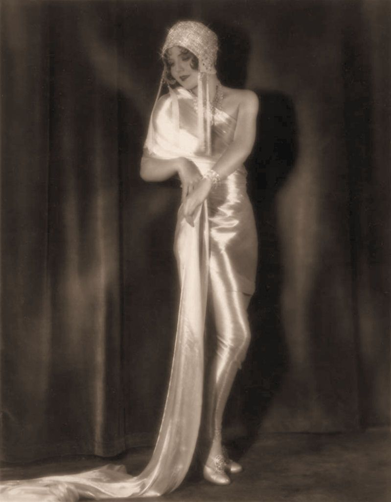 Nancy carroll s silent star satin gown vintage hollywood