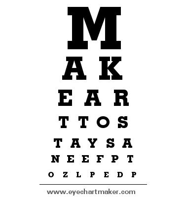 Custom Eye Chart Maker Eye Chart Chart Maker Custom Eyes